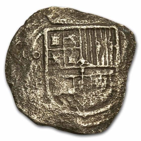 1570-1598 Mexico Mo F 8 Reales COA (Rill Cove Shipwreck)