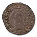 1575 Eglantine Great Britain Three Pence Elizabeth I AU-58 PCGS