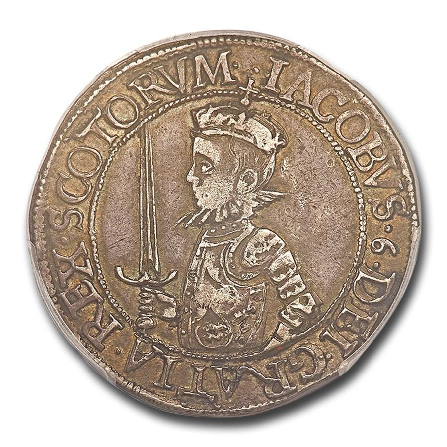 1582 Scotland Silver 20 Shillings James VI AU-50 PCGS