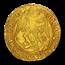 1587-1589 England AV Angel Elizabeth I MS-62 NGC