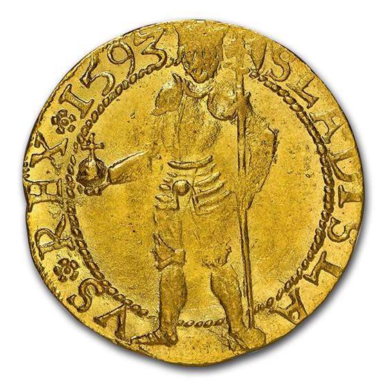 1593 Transylvania Gold Ducat Sigismund Báthori MS-63 NGC