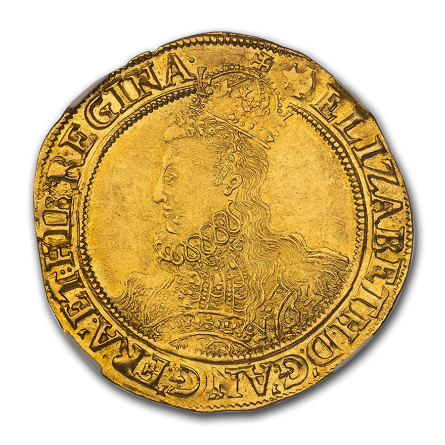 (1598-1600) Great Britain Queen Elizabeth I Gold Pound MS-64 NGC