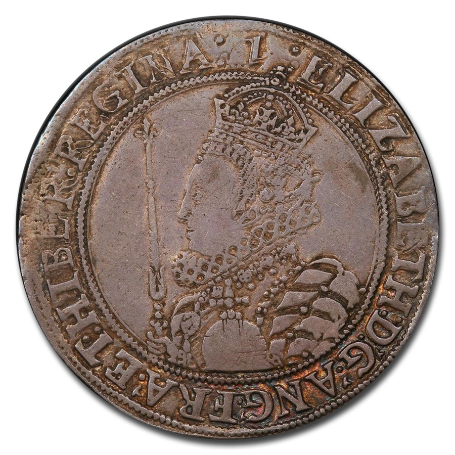 1601-02 Great Britain Silver Half Crown Elizabeth I XF-45 PCGS