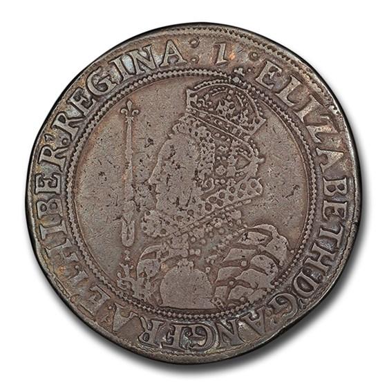 1601 England Half Crown Elizabeth I VF-30 PCGS