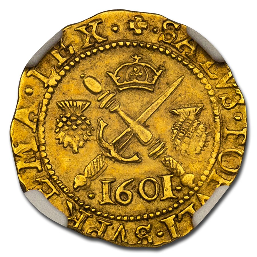 1601 Scotland Gold 1/2 Sword & Sceptre AU-58 NGC
