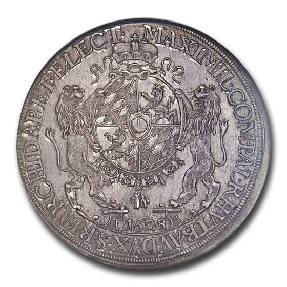 1628 German States Bavaria Silver Thaler Maximilian I MS-65 NGC