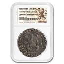1639 Netherlands AR New York Lion Dollar Zwolle Genuine NGC