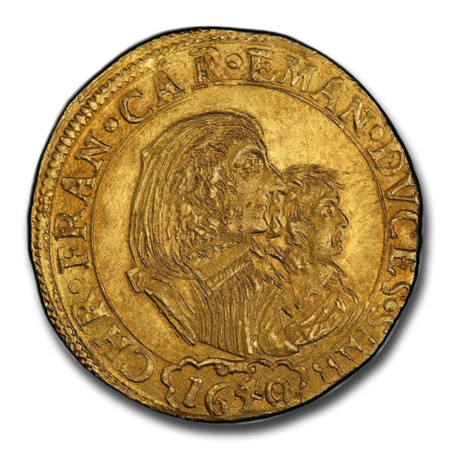 1640 Savoy Gold 4 Scudi d'Oro Carlo Emanuele II MS-64 PCGS