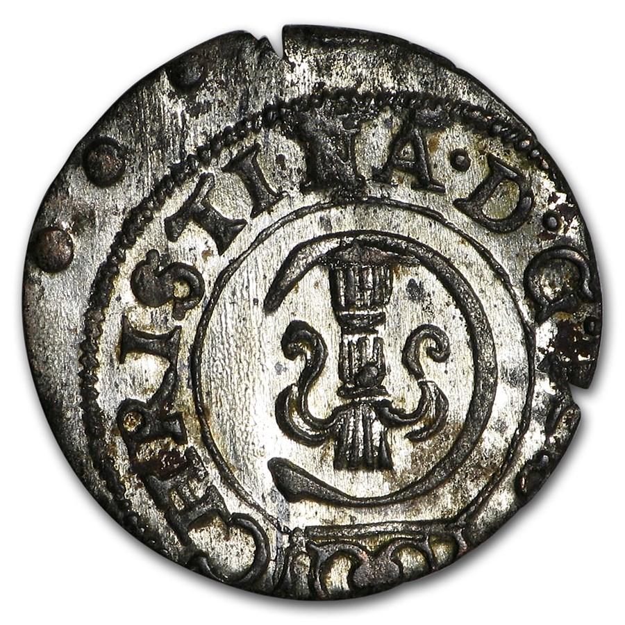 1645-1654 Livonia Silver Solidus Queen Christina VF