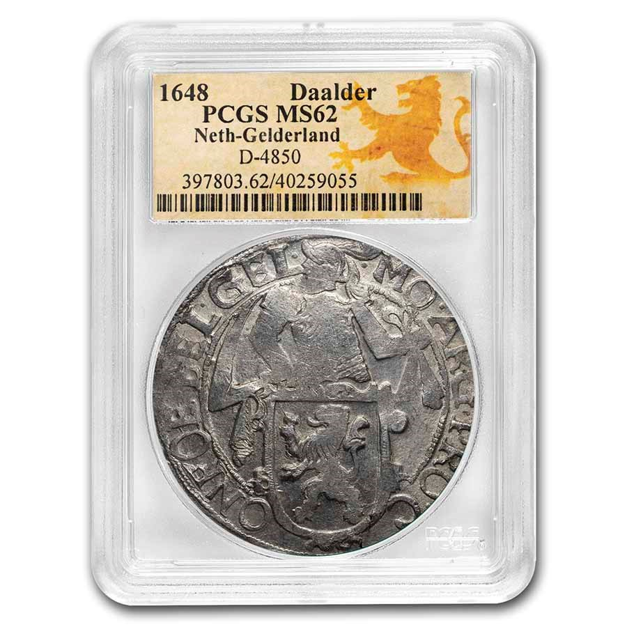 1648 Netherlands AR Lion Dollar Gelderland MS-62 PCGS (D-4850)