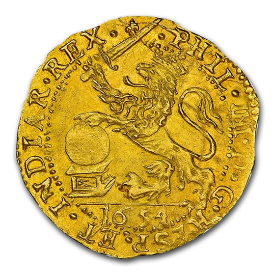 1654 Spanish Netherlands Gold Lion d'Or MS-62 NGC