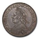 1658 Great Britain Silver Half Crown Oliver Cromwell AU-58 PCGS