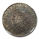 1658 Great Britain Silver Shilling Oliver Cromwell MS-63 NGC