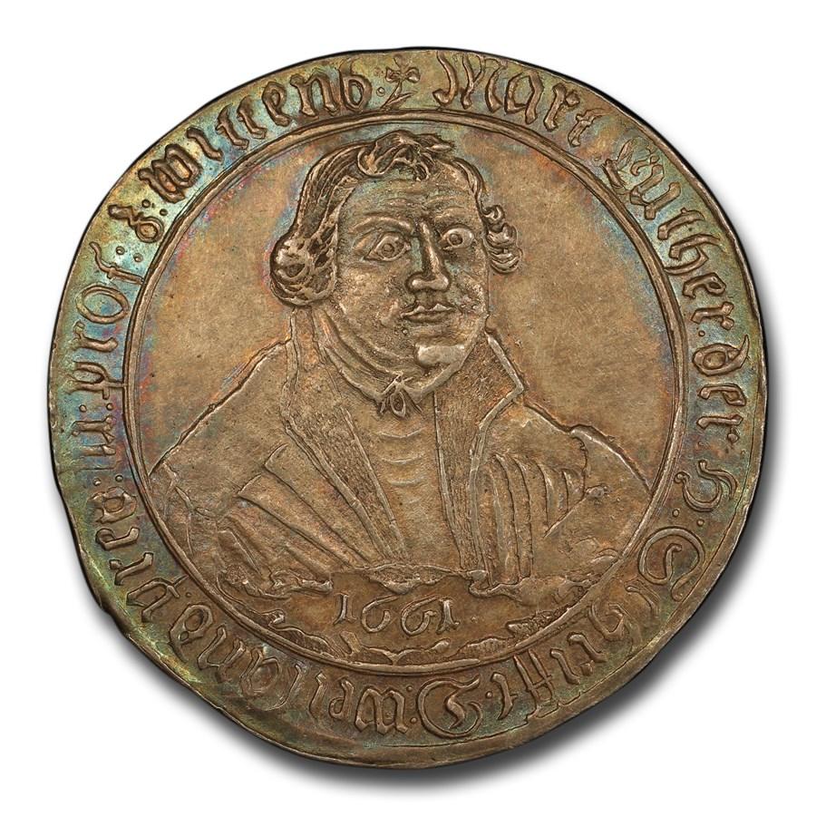 1661 Silver 1/2 Thaler Anniv. Naumburger Convention AU-58 PCGS