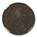 1663 Great Britain Silver Shilling Charles II XF-40 NGC