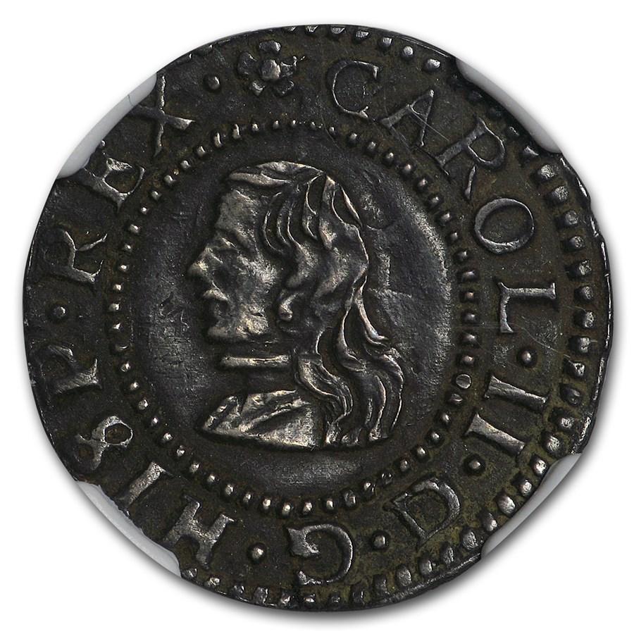 1674 Spain Silver Croat Charles II AU-58 NGC