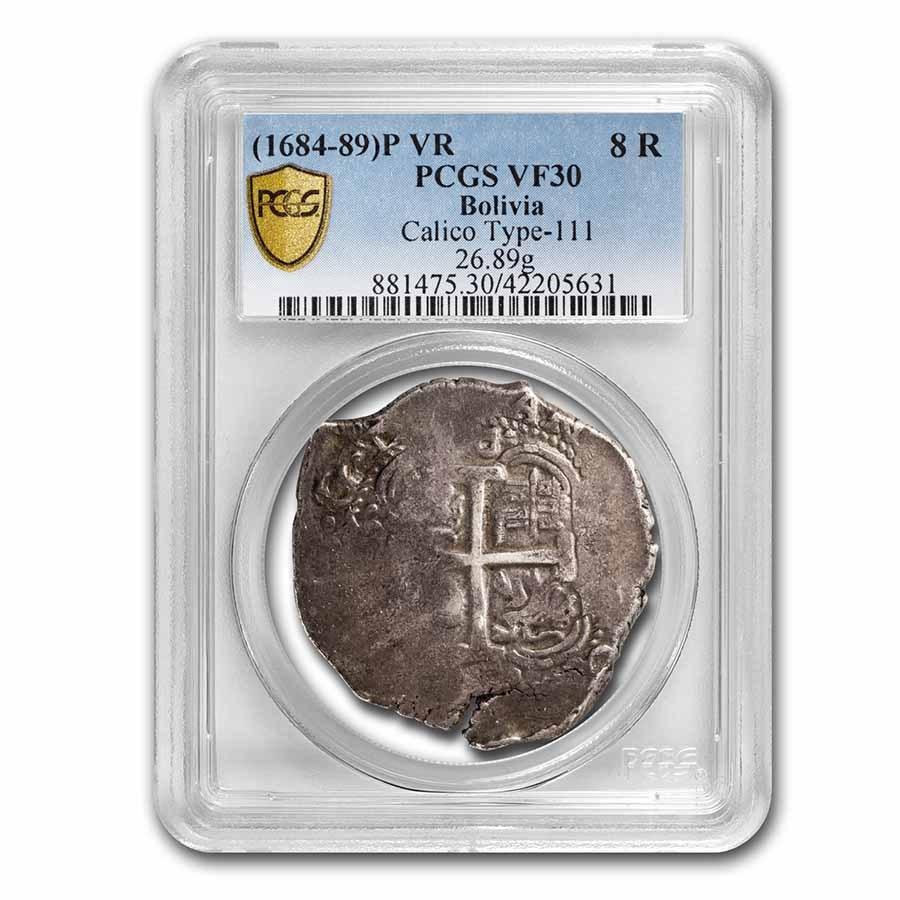 (1684-1689)P VR Bolivia Silver 8 Reales VF-30 PCGS