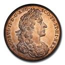 1685 Great Britain Silver Coronation Medal James II AU-55 PCGS