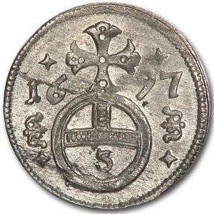 1697 Austria 3 Pfennig AU