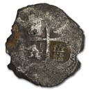 1702 Silver 8 Reales Cob (Unidentified South Caribbean Shipwreck)