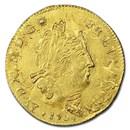 1704-& France AV Louis d'Or MS-61 NGC