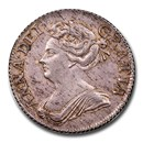 1709 Great Britain AR Shilling Queen Anne MS-61 NGC