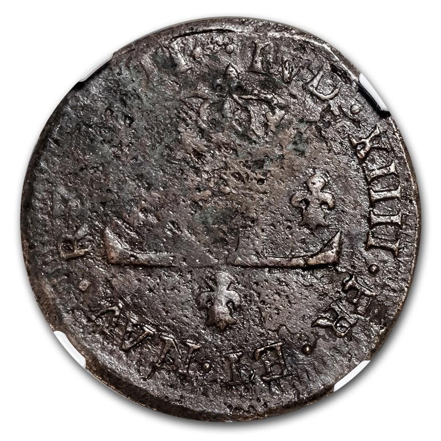 1711-D France Billon 30 Deniers Louis XIV Genuine NGC (Vault)