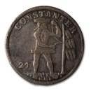 1714 German States Brunswick-Wolfenbüttel Silver 2/3 Thaler VF