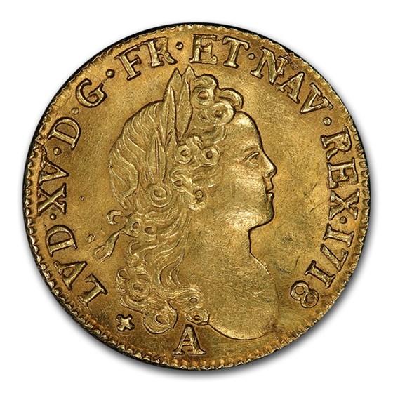 1718-A France Gold Louis D'or MS-62 PCGS