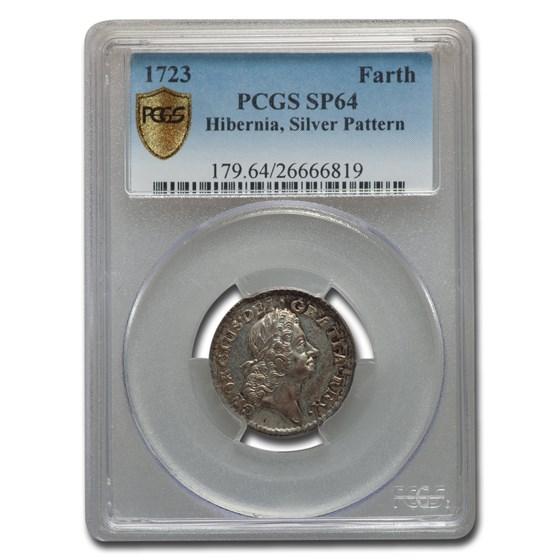 1723 Hibernia Farthing Silver Pattern SP-64 PCGS