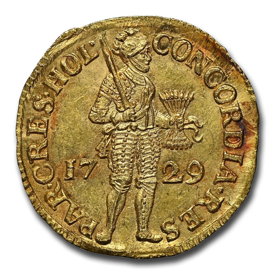 1729 Netherlands Gold Ducat MS-65 NGC