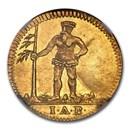 1732 German States Brunswick Gold Pfennig MS-62 NGC