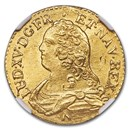 1733-N France Gold Louis D'or MS-64 NGC