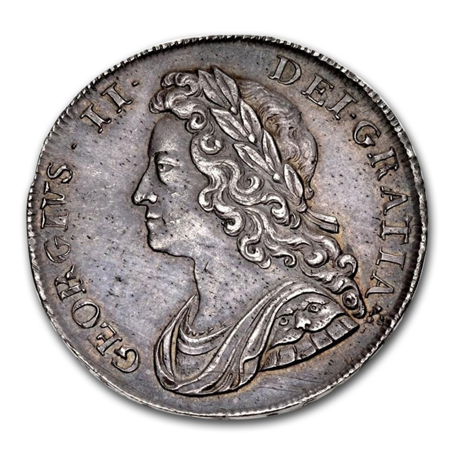 1739 Great Britain Silver Half Crown George II MS-62 NGC