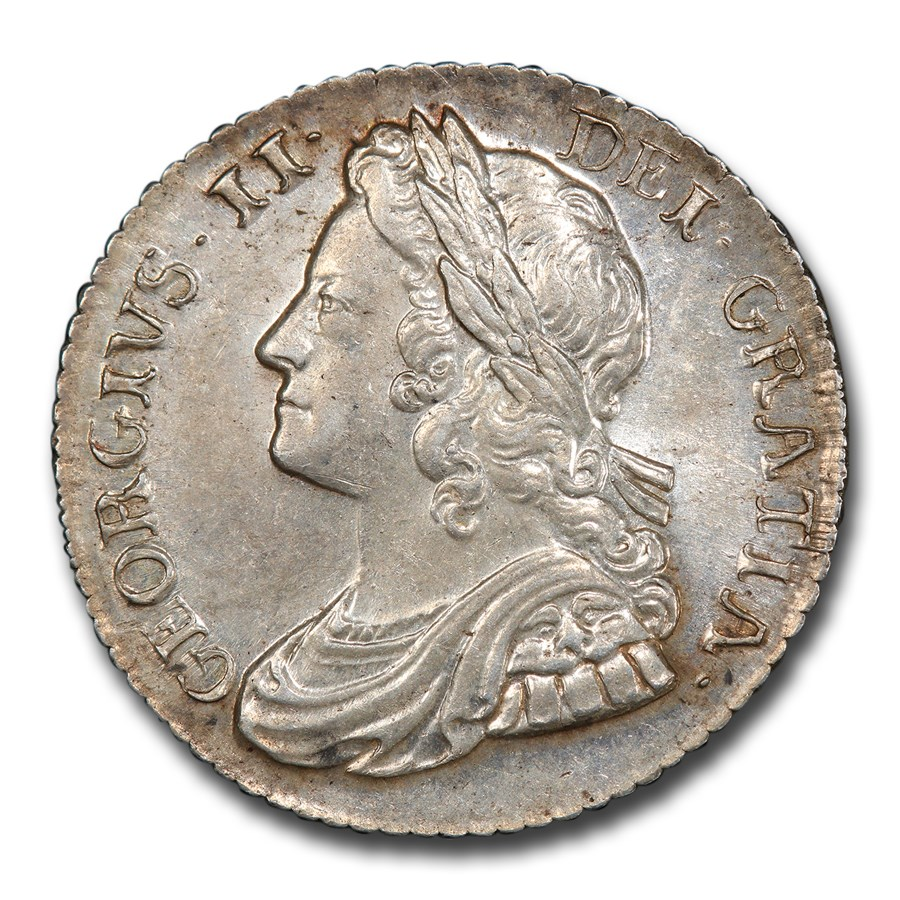 1739 Great Britain Silver Shilling George II MS-62 PCGS