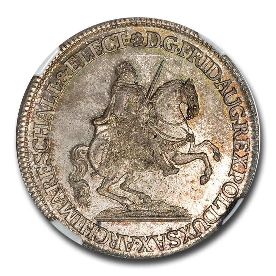 1742 German States Saxony-Albertine 1/2 Thaler MS-64 NGC