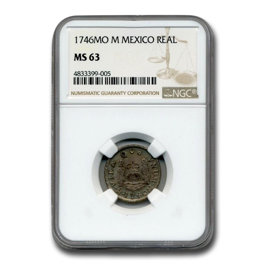 1746 Mo-M Mexico 1 Real MS-63 NGC
