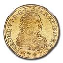 1747-Mo MF Mexico Gold 8 Escudos Ferdinand VI AU-53 NGC
