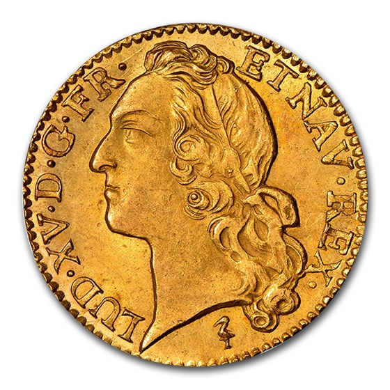 1749-W France Gold Louis D'or MS-64 NGC