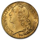 1755-A France Gold Louis D'or MS-64 PCGS