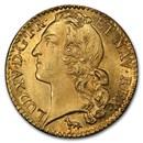 1755-A France Gold Louis D'or MS-64 PCGS