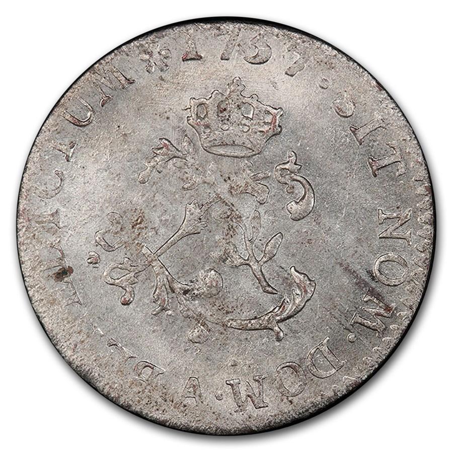 1757-A France Billon Sou Marque MS-63 PCGS (2 Sols)
