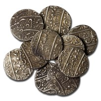 1764-1807 French India Silver Rupee Shah Alam II XF