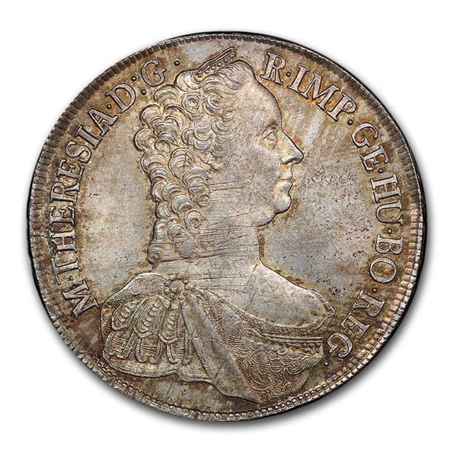 1765 Austria Silver Thaler Maria Theresa MS-63 PCGS (Original)