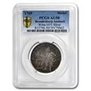 1769 German States Brandenburg-Ansbach Silver Medal AU-50 PCGS