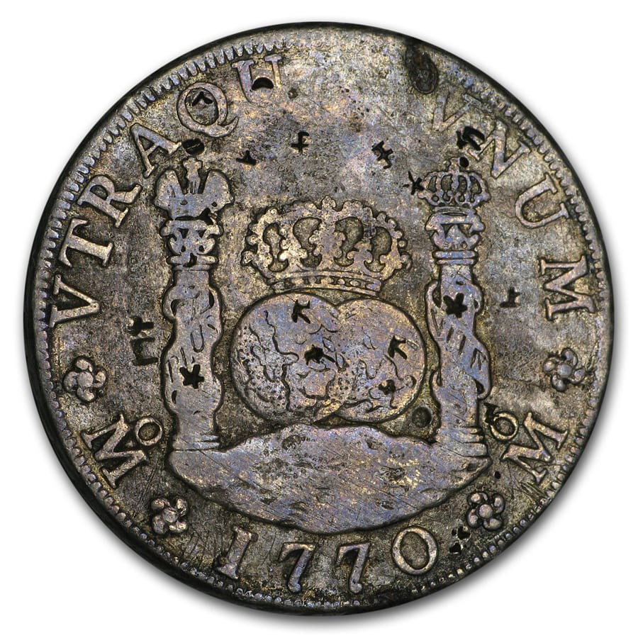 1770 Mo-MF Mexico Silver 8 Reales Charles III Fine (Chopmarked)