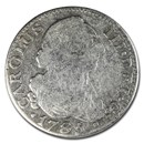 1773-1788 Spanish Empire Silver 2 Reales Charles III Avg Circ