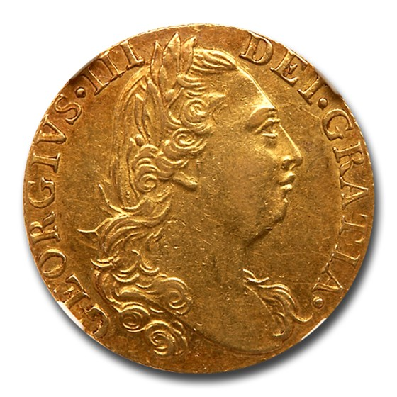 1776 Great Britain Gold Guinea George III AU-58 NGC
