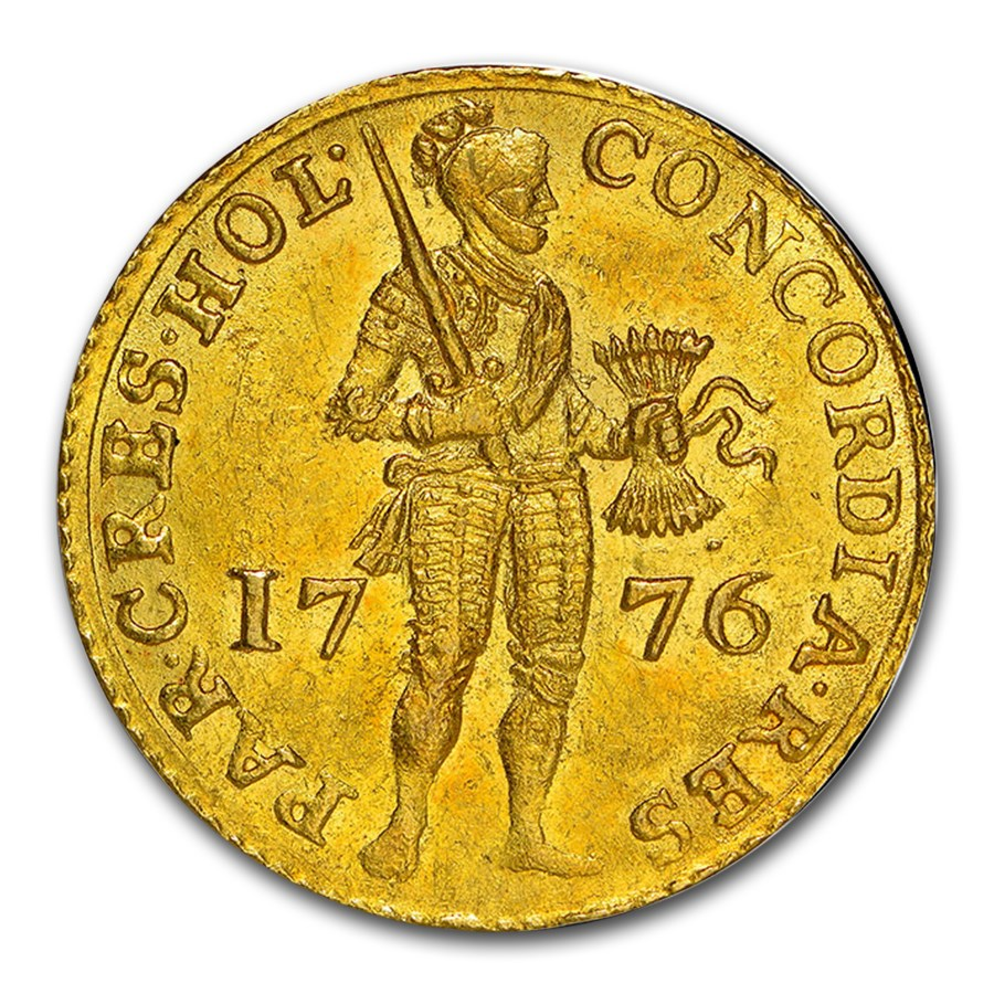1776 Netherlands Gold Ducat MS-63 NGC