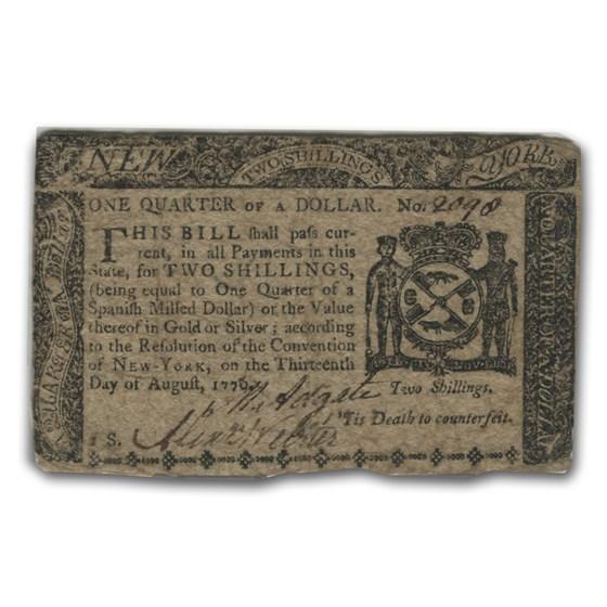 1776 One Dollar New York Currency 8/13/76 XF